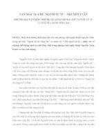 NHỮNG BÀI VĂN MẪU NHỮNG SO SÁNH TRONG CHỮ NGƯỜI TỬ TÙ VÀ NGƯỜI LÁI ĐÒ SÔNG ĐÀ
