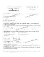 Đề thi thử THPT Quốc gia môn Sinh học trường Chuyên hoàng văn thụ, hòa bình  lần 3