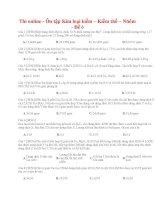 31 thi online   ôn tập kim loại kiềm – kiềm thổ – nhôm   đề 5