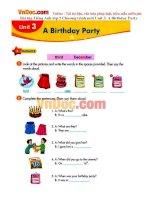 Bài tập Tiếng Anh lớp 5 Chương trình mới Unit 3: A Birthday Party