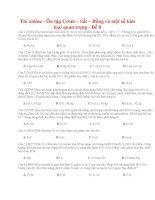 23 thi online   ôn tập crom – sắt – đồng và một số kim loại quan trọng   đề 8