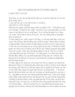 Bài văn nghị luận về tư tưởng đạo lí