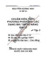 Phương pháp GIẢI các DẠNG bài tập địa lí tập 3