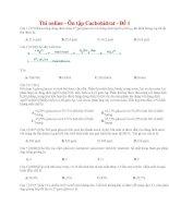 13 thi online   ôn tập cacbohiđrat   đề 1