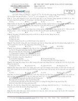 Đề thi thử THPT Quốc gia môn Vật lý trường THPT Chuyên lương văn tụy, ninh bình   lần 2