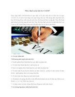 Mức thuế môn bài từ 1/1/2017