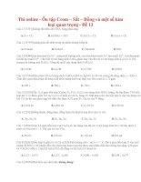 28 thi online   ôn tập crom – sắt – đồng và một số kim loại quan trọng   đề 13