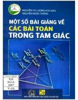 Mot so bai giang ve cac bai toan trong tam giac (NXB dai hoc quoc gia 2007)   nguyen vu luong, 159 trang (NXPowerLite copy)