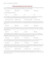 16 thi online   phương pháp bảo toàn electron