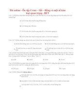 20 thi online   ôn tập crom – sắt – đồng và một số kim loại quan trọng   đề 5