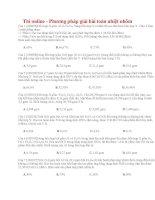 25 thi online   phương pháp giải bài toán nhiệt nhôm