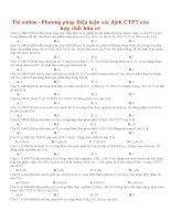 Thi online   phương pháp biện luận xác định CTPT của hợp chất hữu cơ