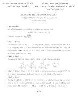 Đề thi duyên hải đồng bằng bắc bộ môn toán lớp 11 năm 2016   đề đề xuất trường đh sư phạm HN
