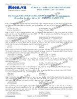 LTDH   thi online   nang cao   bai toan thuy phan este