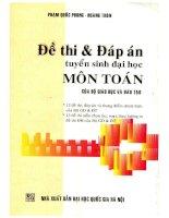 De thi   dap an tuyen sinh dai hoc mon toan (NXB dai hoc quoc gia 2005)   pham quoc phong, 144 trang (NXPowerLite copy)