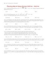 19 thi online   phương pháp sử dụng phương trình ion – electron