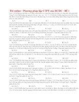 05 thi online   phương pháp lập CTPT của HCHC   đề 1