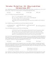 21 thi online   ôn tập crom – sắt – đồng và một số kim loại quan trọng   đề 6