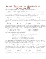 17 thi online   ôn tập crom – sắt – đồng và một số kim loại quan trọng   đề 2