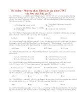 39 thi online   phương pháp biện luận xác định CTCT của hợp chất hữu cơ p2