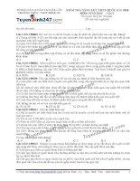 Đề thi thử THPT Quốc gia môn Sinh học trường THCS, THPT đông du, đăk lăk lần 3
