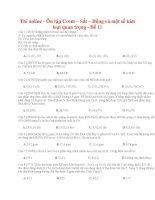 26 thi online   ôn tập crom – sắt – đồng và một số kim loại quan trọng   đề 11