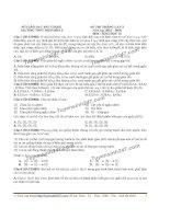 Đề thi thử THPT Quốc gia môn Sinh học trường Hiệp hòa 2   bắc giang   lần 3
