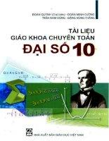 Tai lieu giao khoa chuyen toan dai so 10 (NXB giao duc 2006)   doan quynh   doan minh cuong, 240 trang