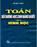 Toan boi duong hoc sinh nang khieu tap 2 hinh hoc (NXB dai hoc quoc gia 2001)   do duc thai, 208 trang