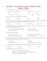 20 thi online   lý thuyết trọng tâm và bài tập về nhóm cacbon – phần 3