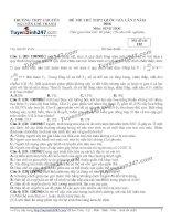 Đề thi thử THPT Quốc gia môn Sinh học trường Chuyên nguyễn chí thanh, đăk nông   lần 2