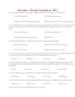 14 thi online   ôn tập cacbohiđrat   đề 2
