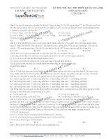 Đề thi thử THPT Quốc gia môn Sinh học trường Chuyên đh sư phạm hà nội   lần 4