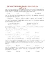 47 thi online YD023 bài tập nâng cao về phản ứng nhiệt luyện