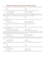Tổng ôn bài tập về phản ứng của hiđrocacbon