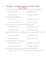 12 thi online   lý thuyết trọng tâm và bài tập về nhóm nitơ – phần 3