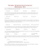 19 thi online   PP giải bài toán về oxi hóa của hidrocacbon   đề 2