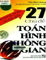 Phuong phap va bai giai 27 chu de toan hinh khong gian (NXB dai hoc quoc gia 2013)   tran minh quang, 265 trang (NXPowerLite copy)