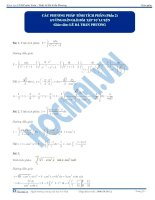 Bai 8 HDGBTTL cac phuong phap tinh tich phan phan 2 hocmai vn