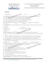 Đề thi thử THPT Quốc gia môn Sinh học trường Chuyên đh sư phạm hà nội   lần 2