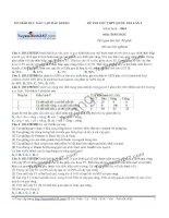 Đề thi thử THPT Quốc gia môn Sinh họcSở GDĐT bắc giang   lần 1