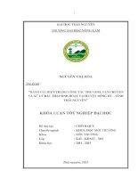 Đánh giá hiện trạng công tác thu gom, vận chuyển và xử lý rác thải sinh hoạt tại huyện đồng hỷ   tỉnh thái nguyên