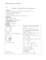 Giáo án Hình học 9 chương 3 bài 10: Diện tích hình tròn, hình quạt tròn