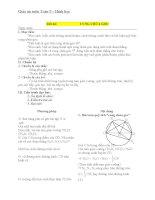 Giáo án Hình học 9 chương 3 bài 6: Cung chứa góc