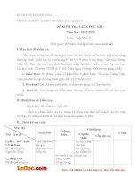 Đề thi giữa học kì 1 môn Ngữ văn lớp 8 trường THCS Trần Ngọc Hoằng, Cần Thơ năm 2016 - 2017