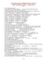 Bài tập trắc nghiệm sinh học 11 (hk2)   sinh học 11   trần xuân linh
