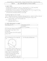 Giáo án Hình học 9 chương 3 bài 2: Liên hệ giữa cung và dây