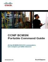 Cisco Press CCNP BCMSN Portable Command Guide
