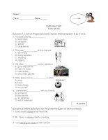 islcollective worksheets elementary a1 elementary school tests sports and pastimes test 319315636569191825ade25 22394796