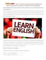 """Điền từ tiếng Anh với bài thơ """"A Poem To Learn English"""""""